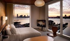If I had enough money, I'd buy a room here.  Liberty Corner King Room, The Standard Hotel New York