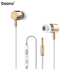 >> Click to Buy << Original DAONO Bass In-ear Earphones Super Clear Metal Earphone Noise isolating Earbud For iphone 6 Meizu Xiaomi MP3 PC #Affiliate