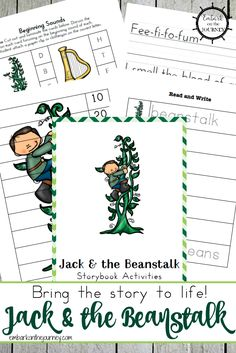 27 Simple Methods Bring the story to life with these Jack and the Beanstalk free printables and activities for kids in grades Spring Activities, Literacy Activities, Activities For Kids, Fairy Tale Theme, Fairy Tales, Preschool Printables, Free Printables, Homeschool Kindergarten, Homeschooling