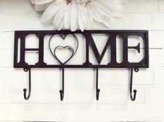Home Decor / Home Sweet Home / Fixture / Housewarming Gift / Home Heart / Wall Hook / Wall Decor / Towel Rack / Black Decor / Hooks Wall on Wanelo