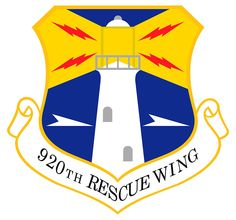 #920th Rescue Wing emblem. Is part of the Air Reserve Component (ARC) of the United States Air Force. The wing is assigned to the Tenth Air Force (10 AF) of the Air Force Reserve Command (AFRC). The 920 RQW is home stationed at Patrick Air Force Base, Florida with additional Geographically Separated Units (GSUs)
