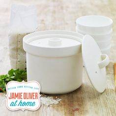 Our Top Seller for August, The Really Good Rice Pot from the Jme Collection makes perfectly fluffy rice every time!  Markings inside guide you as to how much rice/water to use to allow for 4 generous side portions. It can also be used to cook risotto, lentils, oatmeal, even popcorn - a must have in every kitchen! #JamieOliverAtHome