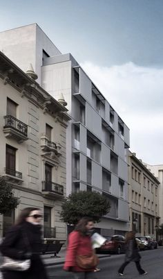 Houses Between Dividing Walls in Albacete / Francisco Candel Giménez