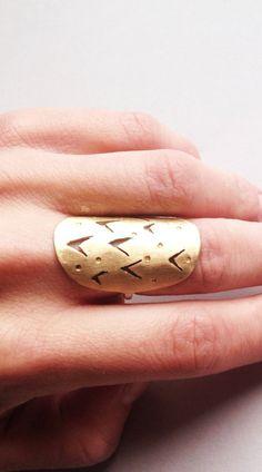 Runes Shield Ring