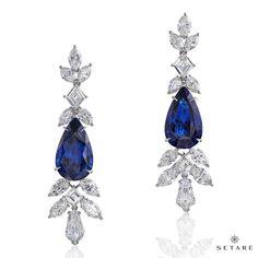 Setaré (@setarediamonds) on Instagram: The sapphire and diamonds earrings scintilliate with striking elegance. #setaré #HighJewelry