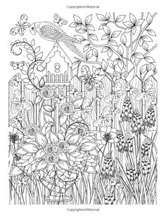 Adult Coloring Books Floral Garden For Adults Relaxation Flowers Animals And