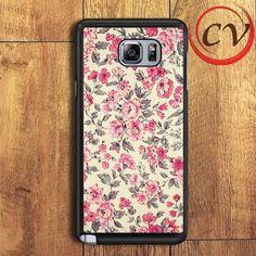Vintage Floral Samsung Galaxy Note 7 Case