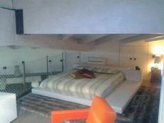 sleeping area Milan Navigli, Hidden Kitchen, Custom Cabinets, Ground Floor, Bunk Beds, Living Area, Loft, Sleep, Flooring