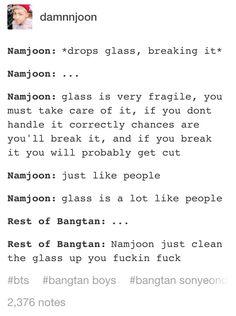 Lol. Rap monster BTS scenarios #bangtan boys #funny #bts