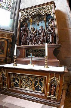 Maître HL. St-Anna-Altar in einer Kapelle des Freiburger Münsters (1520 im Auftrag für Todtnauer Bergleute erstellt)