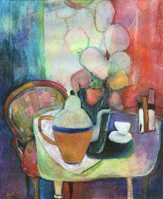 """Cafetière""-Bénédicte Garner-Fihey-Pastel"