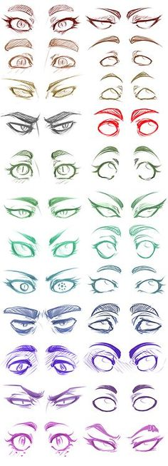 Eyes by panicismyrain ✤ || CHARACTER DESIGN REFERENCES | キャラクターデザイン • Find more at https://www.facebook.com/CharacterDesignReferences if you're looking for …am I crazy or are these homestuck eyes I see?: