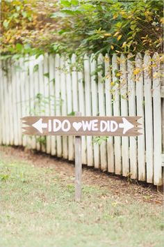 i do we did wedding sign #weddingsigns #diy #weddingchicks http://www.weddingchicks.com/2014/02/07/red-and-orange-fall-wedding/