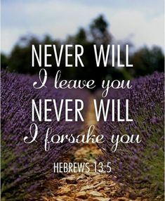 """Keep your lives free from the love of money and be content with what you have, because God has said, """"Never will I leave you; never will I forsake you. Prayer Scriptures, Bible Prayers, Bible Verses Quotes, Faith Quotes, Jesus Christ Quotes, Was Ist Pinterest, God Loves Me, Jesus Loves You, Favorite Bible Verses"""