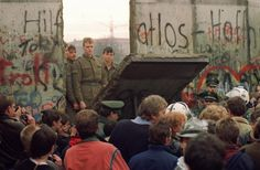 Fall of the Berlin Wall 1989. three decades after it was erected to separate east  west Berlin, Germany