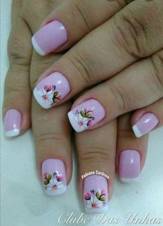 Perfect Colorful Floral Nail Design – 9 It's your turn to have great nails! Check out this year's most … Great Nails, Fabulous Nails, Cute Nails, Nail Designs Spring, Nail Art Designs, Spring Nails, Summer Nails, Hair And Nails, My Nails