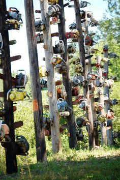 Chainsaw totem pole forest near Medford, Wisconsin Chainsaw Repair, Chainsaw Mill, Tree Arborist, Lumberjack Style, Tree Surgeons, Wildland Firefighter, Logging Equipment, Tree Pruning, Woodworking For Kids