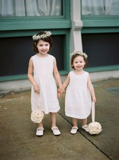 Baby's breath crowned flower girls: http://www.stylemepretty.com/2015/11/19/milwaukee-wedding-draped-in-romantic-fog/   Photography: Untamed Heart Photography - http://untamedheartphotography.com/