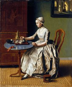 A LADY POURING CHOCOLATE (LA CHOCOLATIERE) 1744, by Jean Etienne Liotard
