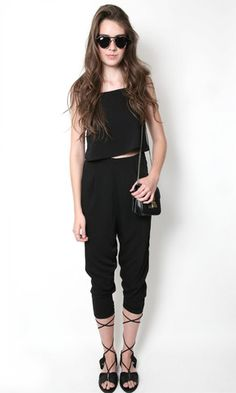 Almost Separate Long Jumpsuit | The Free Island