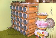 wine rack craft room organizer, craft rooms, crafts, organizing, repurposing upcycling, storage ideas