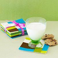Mod Felt Coasters - tried this in 2012 w/ craft felt and Presto adhesive felt - not a success