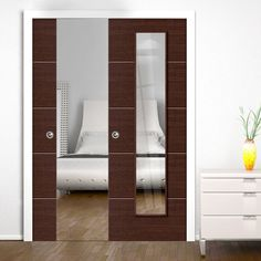 Double Pocket Eco Wenge sliding door system in three sizes with Clear Glass. Modern Sliding Doors, Sliding Door Systems, Frosted Glass, Clear Glass, Pocket Doors, Furniture, Kitchen, Home Decor, Ideas