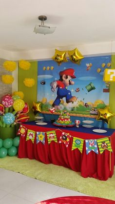 Mario bross party Idea Decoración