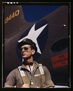 F.W. Hunter, Army test pilot, Douglas Aircraft Company plant at Long Beach, Calif.  (LOC) by The Library of Congress, via Flickr