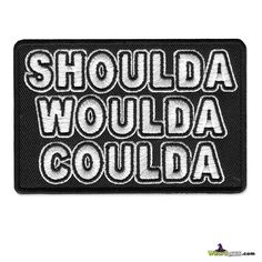 WizardPatch™ offer a great selection of funny biker patch designs, hilarious patch, humorous patches, funny quotes, design your own!