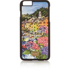 iPhone 6 Plus-Hülle aus Leder mit Portofino-Motiv, erhältlich