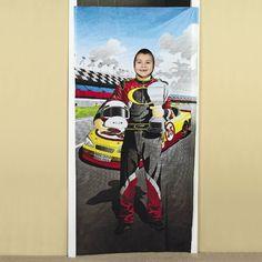 Race Car Driver Photo Door Banner