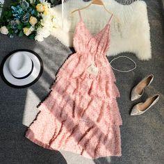 Baage Square-Neck Short-Sleeve A-Line Dress Cheap Dresses, Elegant Dresses, Pretty Dresses, Beautiful Dresses, Moda Outfits, Dress Outfits, Fashion Outfits, Sunmer Dresses, Fairy Dress