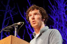 Benedict Cumberbatch taking part in Letters Live