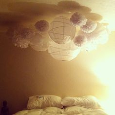 Chinese lanterns and tissue paper balls