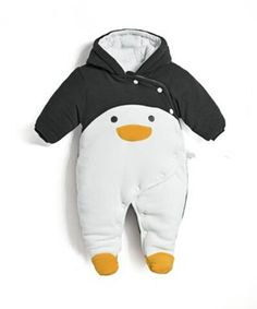 2017 autumn winter baby Clothes newborn jumpsuit infant cotton thick overalls baby warm rompers bebes penguin animal style