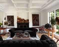 Will and Grace creator Max Mutchnick's living room. via ELLE DECOR