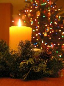 Christmas Candle & Tree