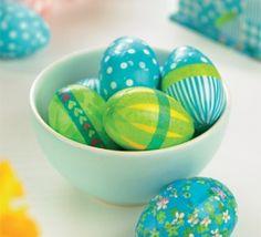 Decoupaged Eggs & House Easter Set