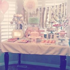 Vintage Shabby Chic First Birthday Party: Decor/ Food/ Sweets/ Cake