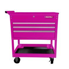 The Original Pink Box Pink Tool Box, Salon Cart, Pink Drawers, Utility Cart, Garage Organization, Bedroom Organization, Garage Storage, Storage Spaces, Autos