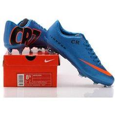 http://www.asneakers4u.com/ Nike Mercurial Vapor IX CR7 FG Cleats   Navy Blue Orange Peel