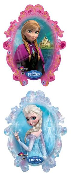 Frozen Mylar Balloon double sided.  #frozenballoon #elsaannaballoon #elsafrozen #annafrozen