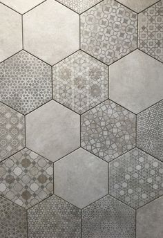 Breathtaking photo - read up on our site for a whole lot more tips! Hexagon Tile Backsplash, Hexagon Tile Bathroom, Ceramic Floor Tiles, Hexagon Floor Tile, Taupe Bathroom, Wood Tile Floors, Bathroom Flooring, Kitchen Flooring, Kitchen Tiles