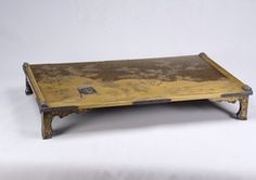Writing table and box lacquered with metal powder, picture of narrow ivy path - eKokuhou