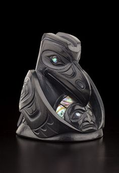 Raven and the Light ~ by Christian White, Haida artist (W150611)