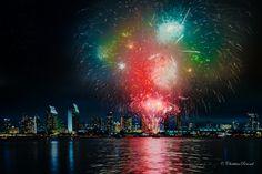 San DIEGO, CALIFORNIA San Diego Living, The 4, Fireworks, Summer Fun, 4th Of July, Northern Lights, California, America, City