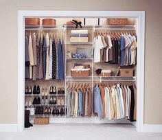 Best Closet Systems Image detail for -ClosetMaid - wire shelving & wardrobe solutions.Image detail for -ClosetMaid - wire shelving & wardrobe solutions. Wardrobe Organisation, Wardrobe Storage, Wardrobe Closet, Closet Storage, Bedroom Storage, Closet Organization, Organization Ideas, Bedroom Wardrobe, Storage Ideas