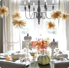 Beautiful fall dining room