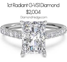 ‪1ct Radiant G-VS1 Diamond for $2,004 on DiamondHedge.com for a limited time!   #diamonds #diamondrings #diamondhedge #radiantcut #love #wedding #weddingring #love #shesaidyes #Engagementring #SaturdayMorning‬